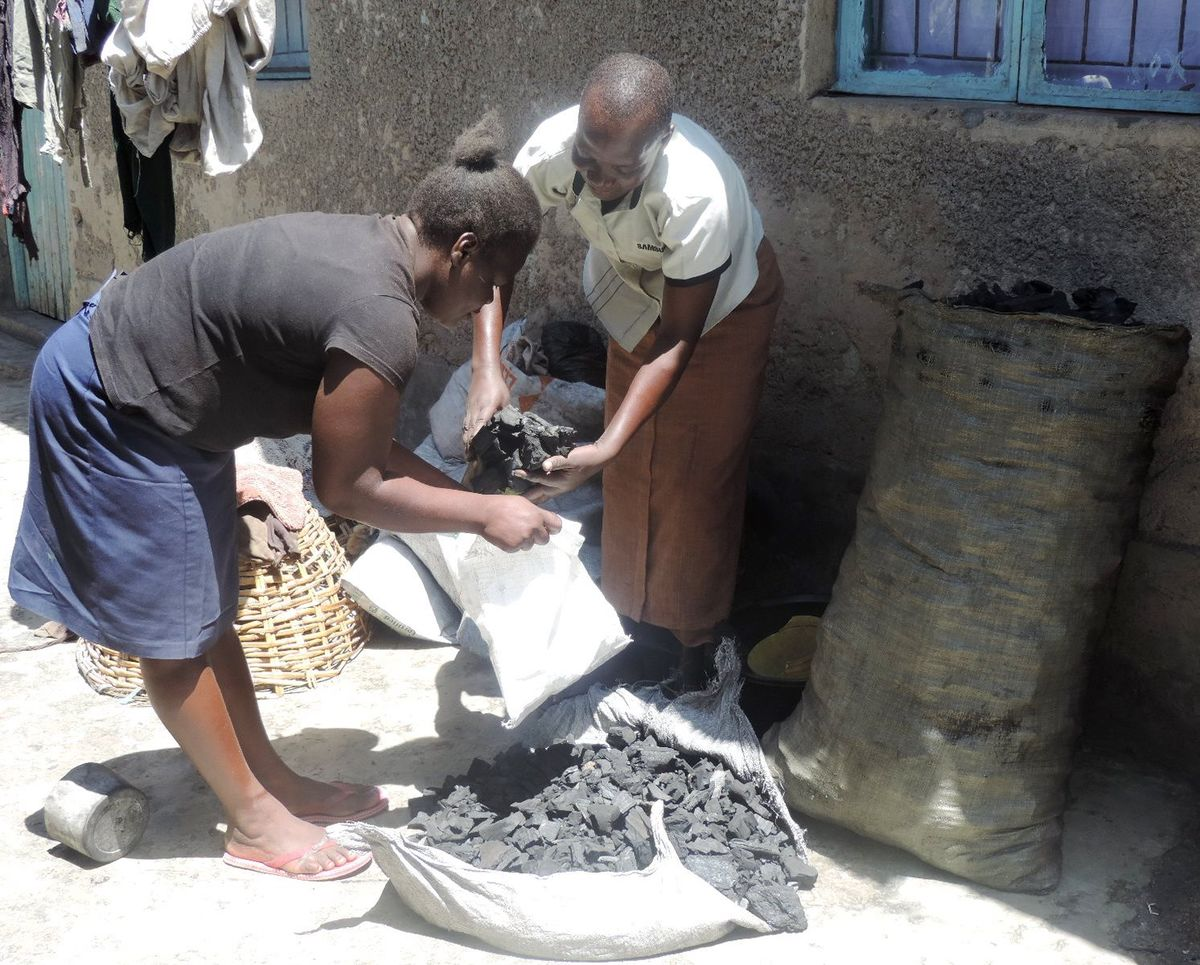In the informal settlement of Manyatta, in Kisumu, Kenya, Immaculate runs a small charcoal business out of her home.