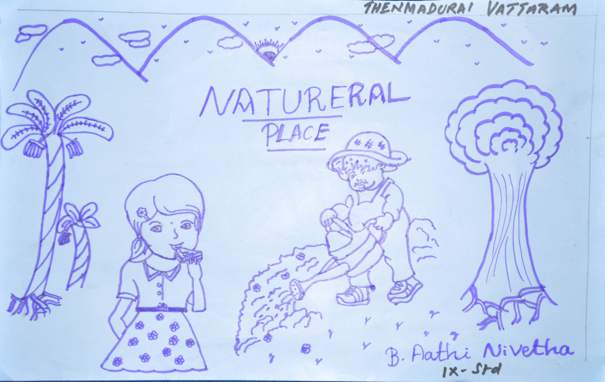 a drawing by an adolescent girl