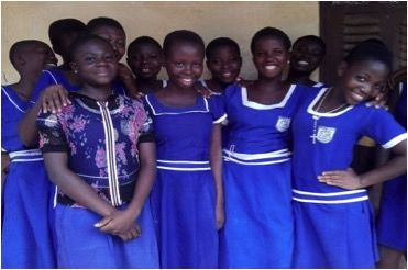 Nancy, a teen mom in the WHW Girls' Club with her classmates