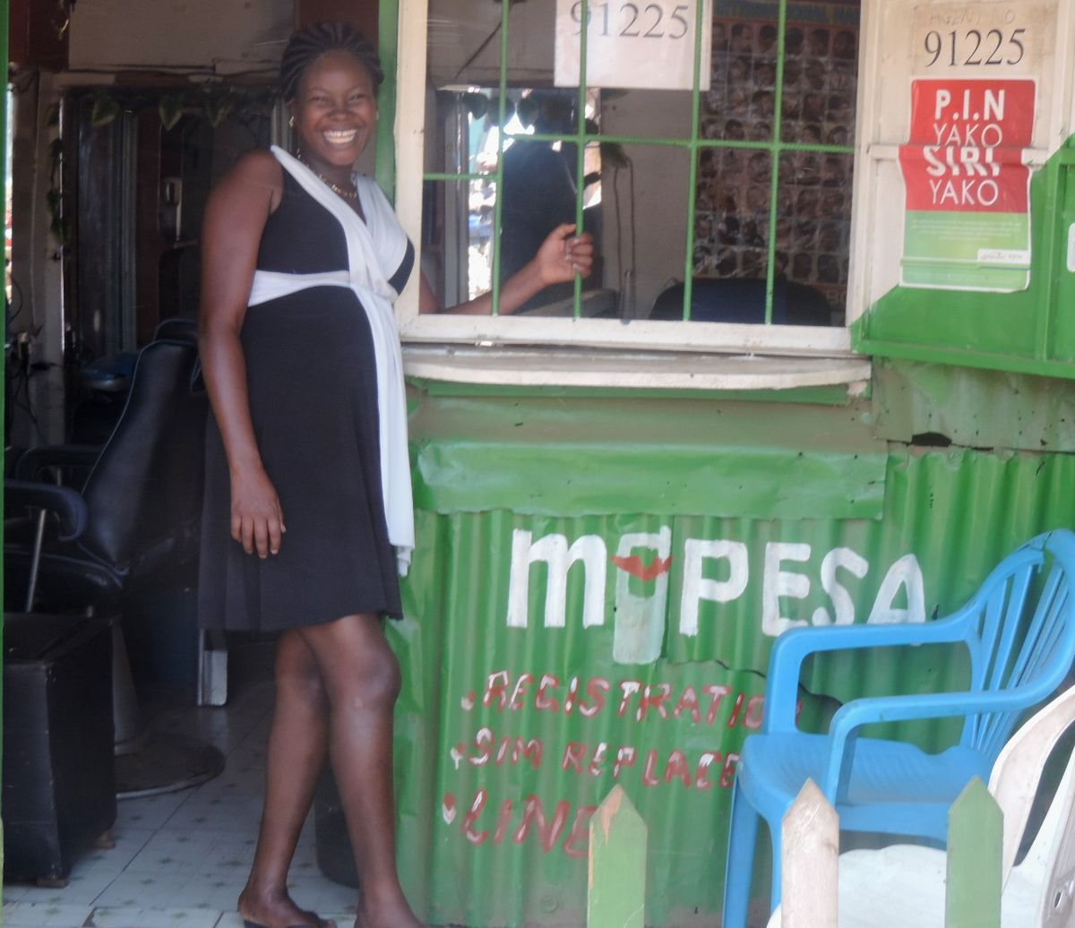 Lillian Akoth at her business premises in Kibuye Municipal Market in Kisumu City.