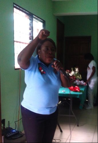 Guest Speaker presents at International Women's Day in Haiti