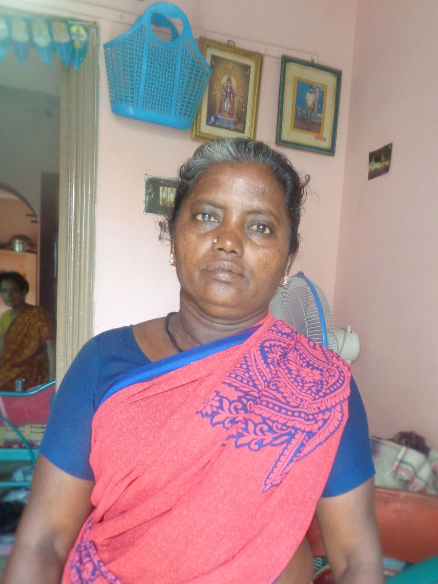 Portrait of 53-year-old Muthulakshmi, who declared herself out of poverty on October 2, 2016 at a DHAN Foundation Founders Day event