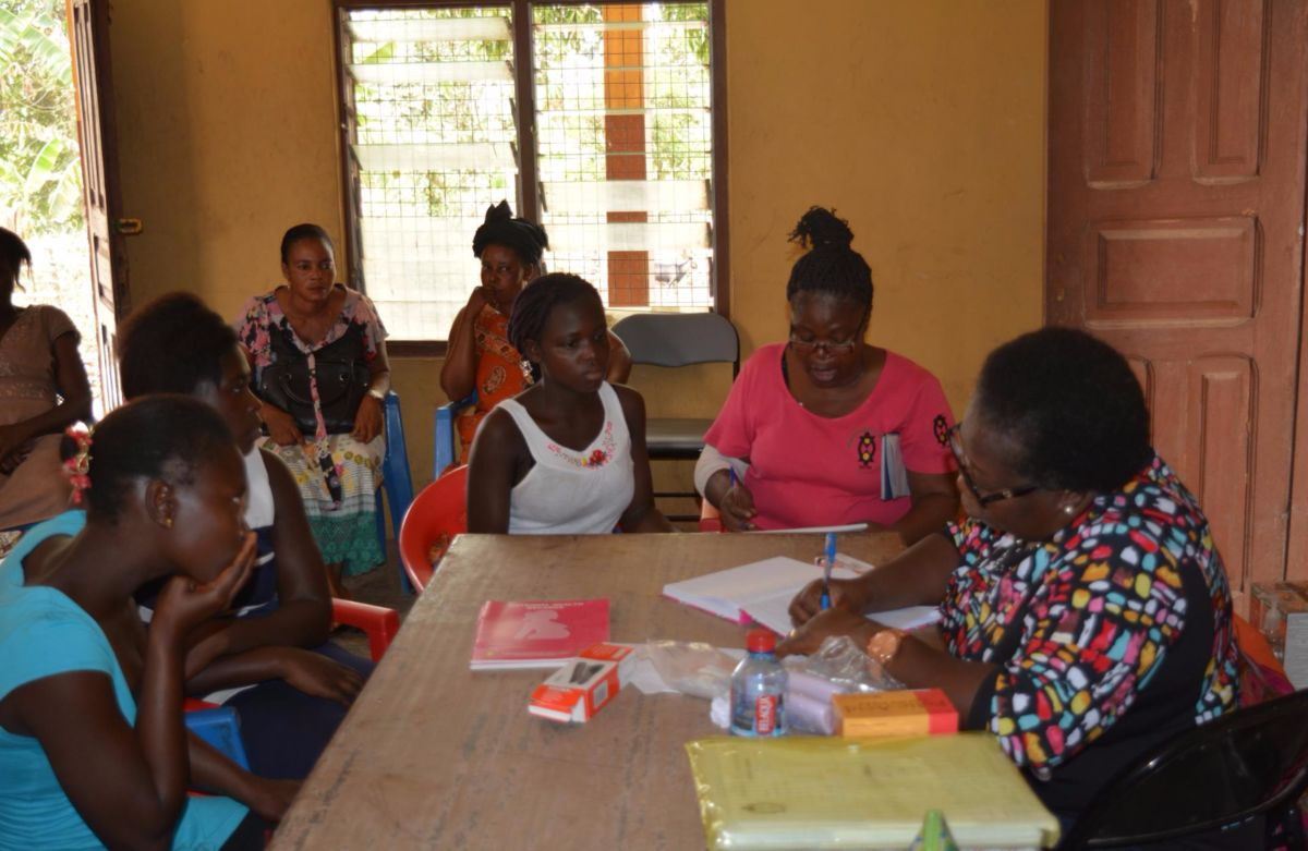 Working with pregnant teen girls at WHW in Ghana