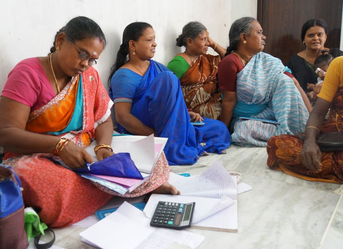 Women gather at DHAN in India