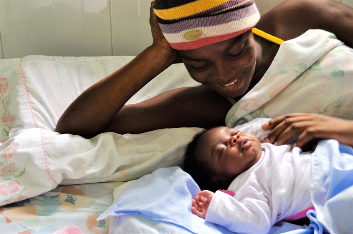 Mother and baby in Haiti