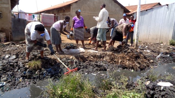WomenStrong consortium members working in the Manyatta slums, Kisumu, Kenya.